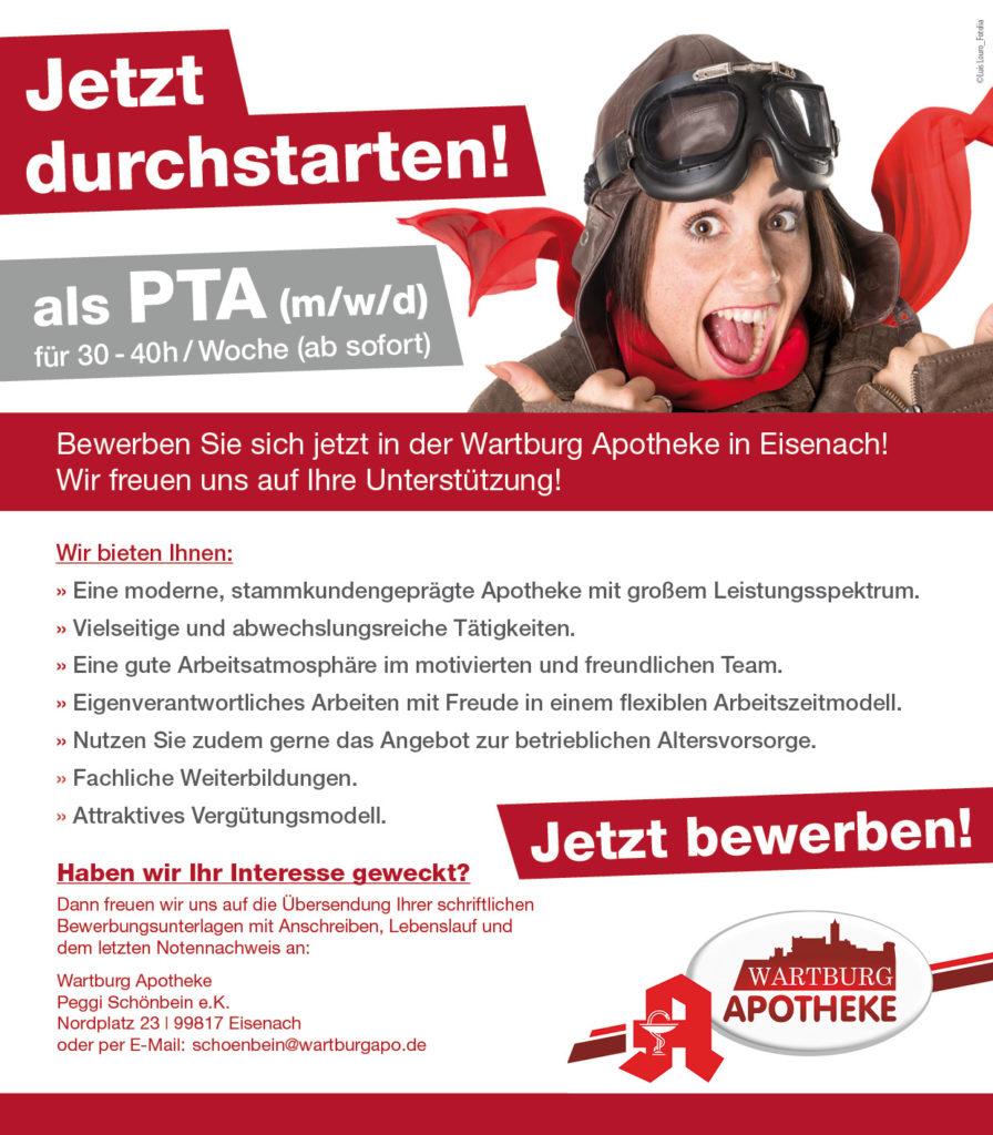 Bewerben bei der Wartburg Apotheke als PTA