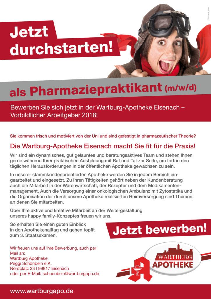 Bewerben bei der Wartburg Apotheke als Pharmaziepraktikant