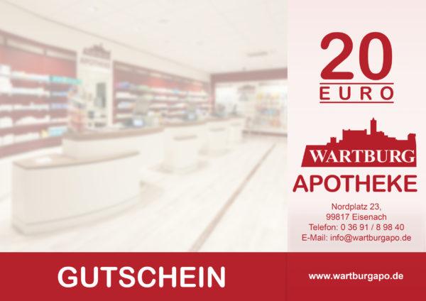 Gutschein der Wartburg Apotheke Eisenach über 20 EUR