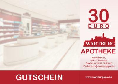 Gutschein der Wartburg Apotheke Eisenach über 30 EUR